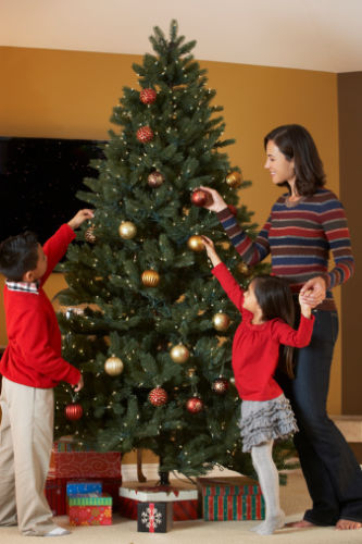 Holiday Co-Parenting - Divorced Mom and Kids Decorate Christmas Tree - KM Family Law