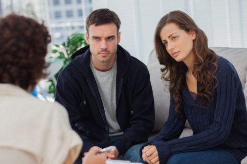 Couple at Facilitative Mediation - KM Family Law