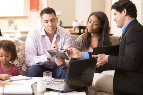 Family meets with home consultant. - KM Family Law